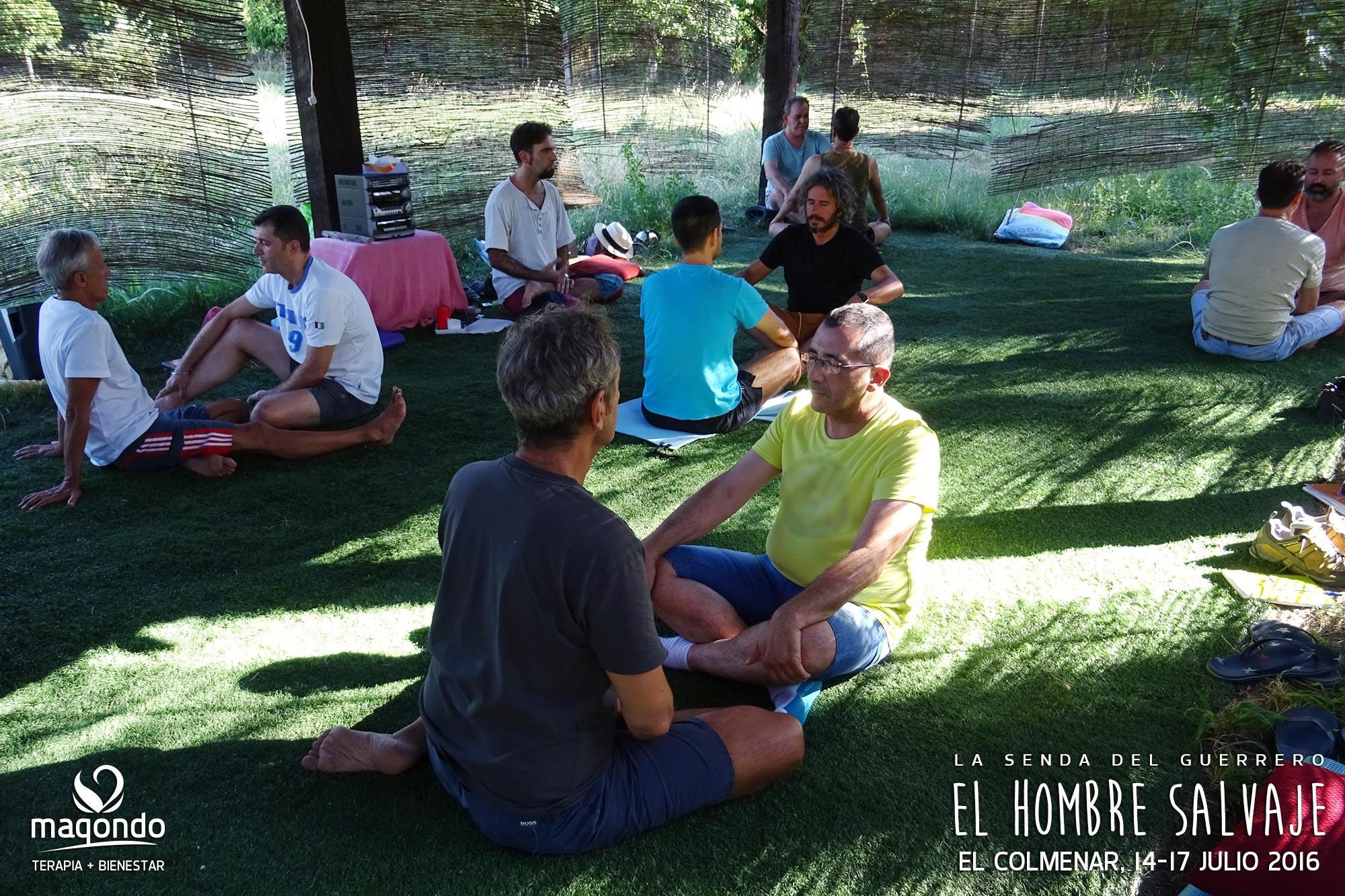 El Hombre Salvaje MENORCA retiro para Hombres con Juan Fco. Díaz · Terapia corporal grupal